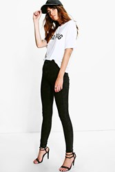 Boohoo Black Acid Wash Tube Jeans Black