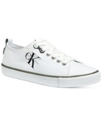Calvin Klein Women's Dora Logo Sneakers Women's Shoes White