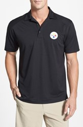 Cutter And Buck 'S Big Tall Pittsburgh Steelers Genre Drytec Moisture Wicking Polo Black