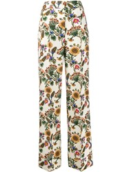 La Doublej Anna Floral Tailored Trousers 60
