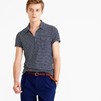 J.Crew Wallace And Barnes Striped Indigo Polo Shirt
