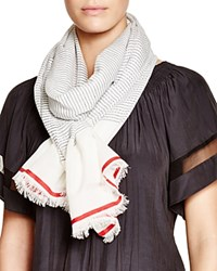 Fraas Mini Stripe Scarf Navy Red