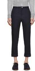 Thom Browne Navy Twill Classic Chinos