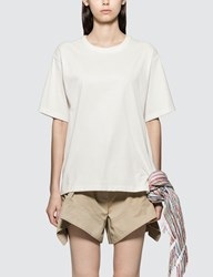 J.W.Anderson Jw Anderson T Shirt With Multi Colour Stripe Scarf Detail