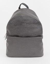 Matt And Nat Structured Backpack In Carbon Grey