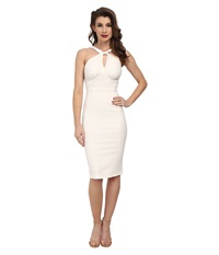 Stop Staring Jolie Fitted Dress Ivory Women's Dress White
