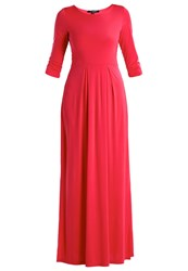Ilse Jacobsen Emma Maxi Dress Hot Pink Coral