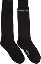 Kenzo Black Paris New York Socks