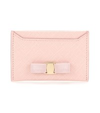 Salvatore Ferragamo Leather Card Holder Pink