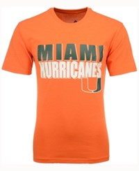 Colosseum Men's Miami Hurricanes Wordmark Stack T Shirt Orange