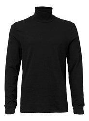 Topman Black Mini Roll Neck Long Sleeve T Shirt