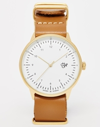 Cheapo Classic Leather Strap Watch Tan
