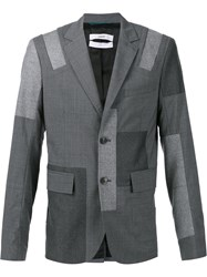 Oamc 'Patch 2 Button' Blazer Grey