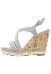Pier One Wedge Sandals Grey