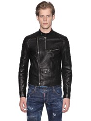 Dsquared Grained Leather Biker Jacket