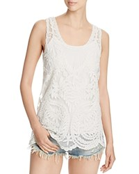 Design History Lace Tank Cream