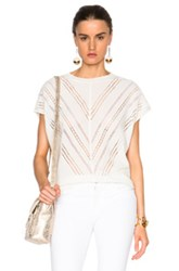 Adam By Adam Lippes Adam Lippes Embroidered Muscle Tee In White