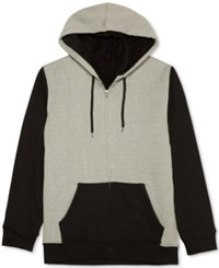 Jem Men's Colorblocked Zip Front Hoodie Oxford