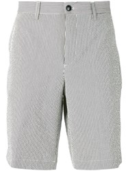 Ermenegildo Zegna Striped Chino Shorts Men Cotton Spandex Elastane 54 White
