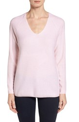 Women's Nordstrom Collection V Neck Cashmere Sweater Pink Heaven