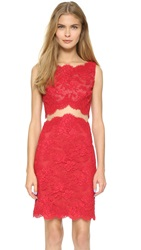 Reem Acra Re Embroidered Sheath Dress