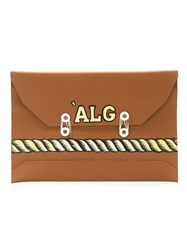 A La Garconne Leather Pouch Women Leather One Size Brown