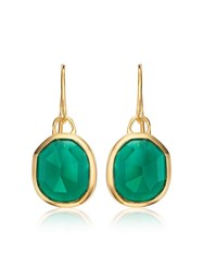 Monica Vinader Gp Siren Wire Green Onyx Earrings Gold