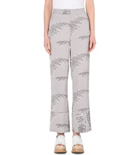Whistles Valparaiso Wide Legged Linen Trousers Grey