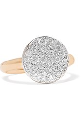 Pomellato Sabbia 18 Karat Rose Gold Diamond Ring 11
