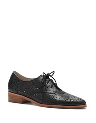 Louise Et Cie Annacis Perforated Leather Derby Shoes Black