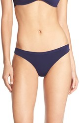 Women's Halogen 'No Show' Lace Back Thong Navy Evening