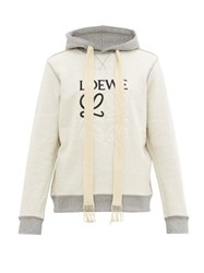 Loewe Inside Out Anagram Embroidered Hooded Sweatshirt Grey