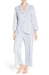 Carole Hochman Women's Cotton Pajamas Foulard Bouquet