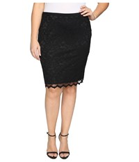 Karen Kane Plus Size Lace Pencil Skirt Black Women's Skirt