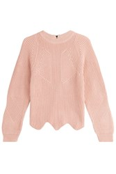 Tara Jarmon Pullover With Scalloped Hemline Rose