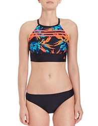 Adidas Beach Paradise Racerback Bikini Top Multi Colored
