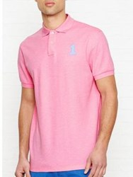 Hackett New Classic Polo Top Pink Pink Sky