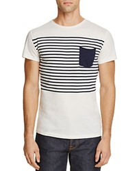 Superdry Lite Loomed Striped Pocket Tee White