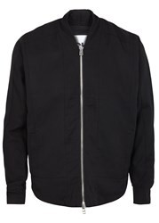 Chapter Black Twill Bomber Jacket