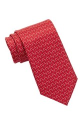 Tailorbyrd Baseball Silk Tie Red