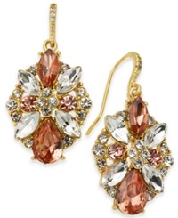 Charter Club Multi Crystal Cluster Drop Earrings Created For Macy's Rose Peach