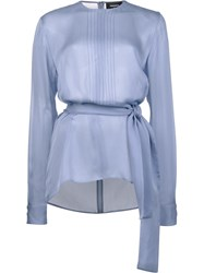 Dsquared2 Tie Waist Blouse Blue