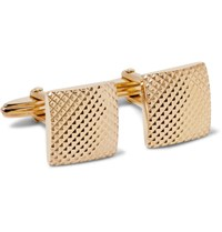 Lanvin Textured Gold Tone Cufflinks Gold