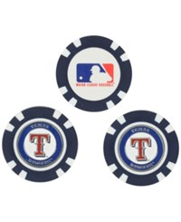 Team Golf Texas Rangers 3 Pack Poker Chip Markers Royalblue