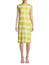 Candc California Tie Dyed Knee Length Dress Lemon Verbina