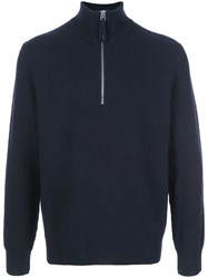 Alex Mill Ribbed Zipped Collar Jumper 60