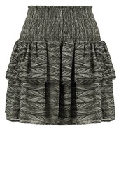 Y.A.S Yas Yasrush Mini Skirt Seagrass Oliv