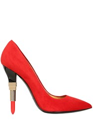 Alberto Guardiani 115Mm Lipstick Nubuck Pumps