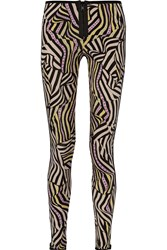 Missoni Printed Stretch Jersey Leggings Black