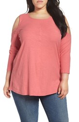 Vince Camuto Plus Size Women's Two By Lightweight Cold Shoulder Top